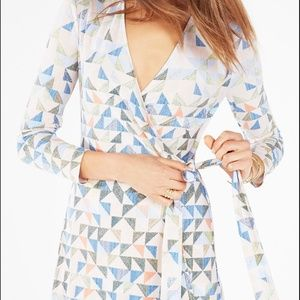 Gorgeous oh so flattering BCBGMaxAzria wrap dress